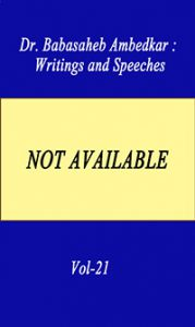 Writing and Speeches Vol-21